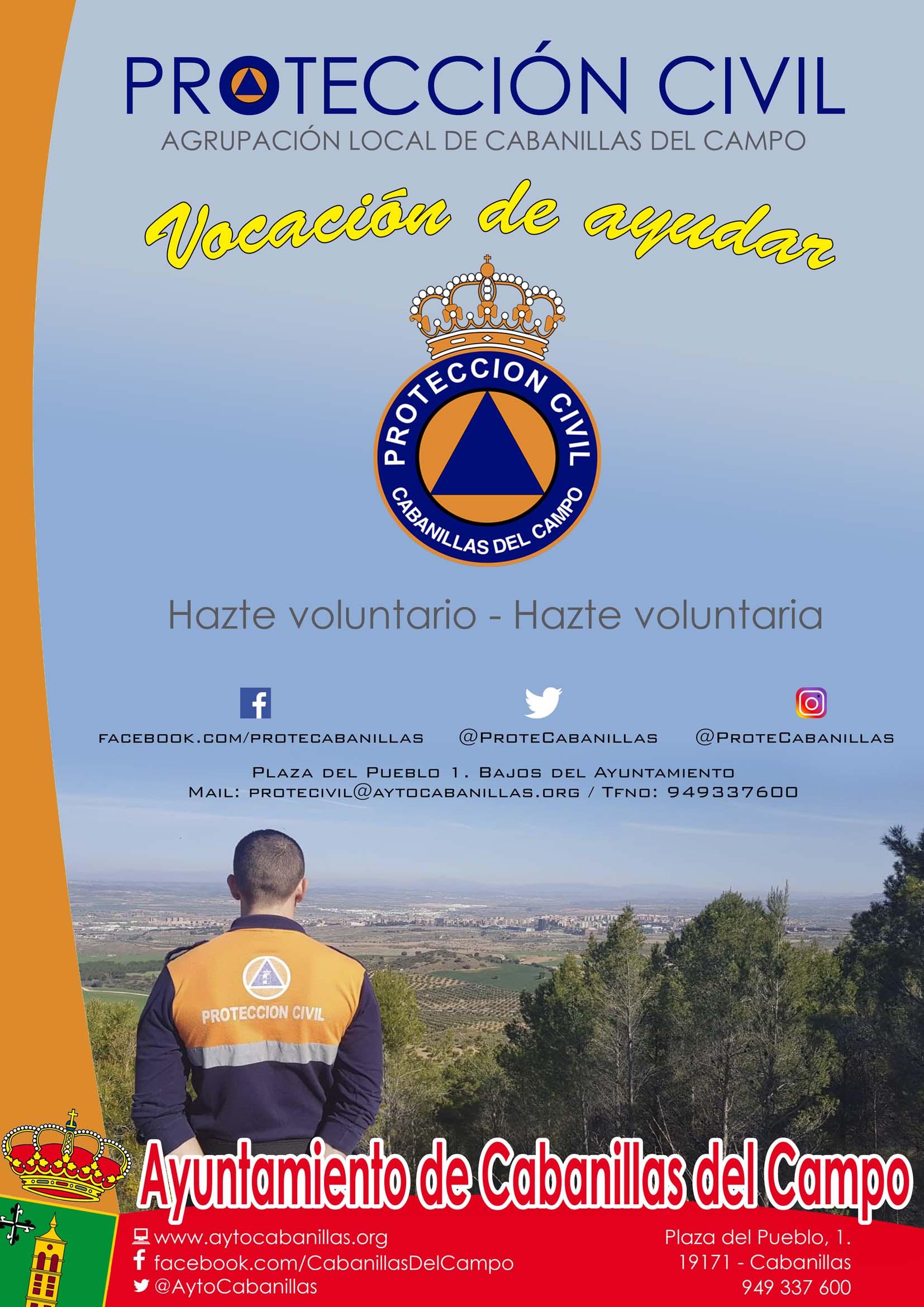 CARTEL PROTECCION CIVIL WEB