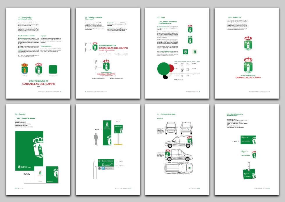 Imagen del Manual de Identidad Gráfica del Ayuntamiento de Cabanillas