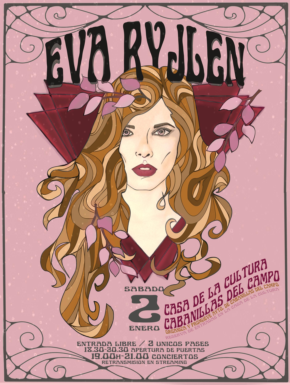 Cartel concierto Eva Ryjlen