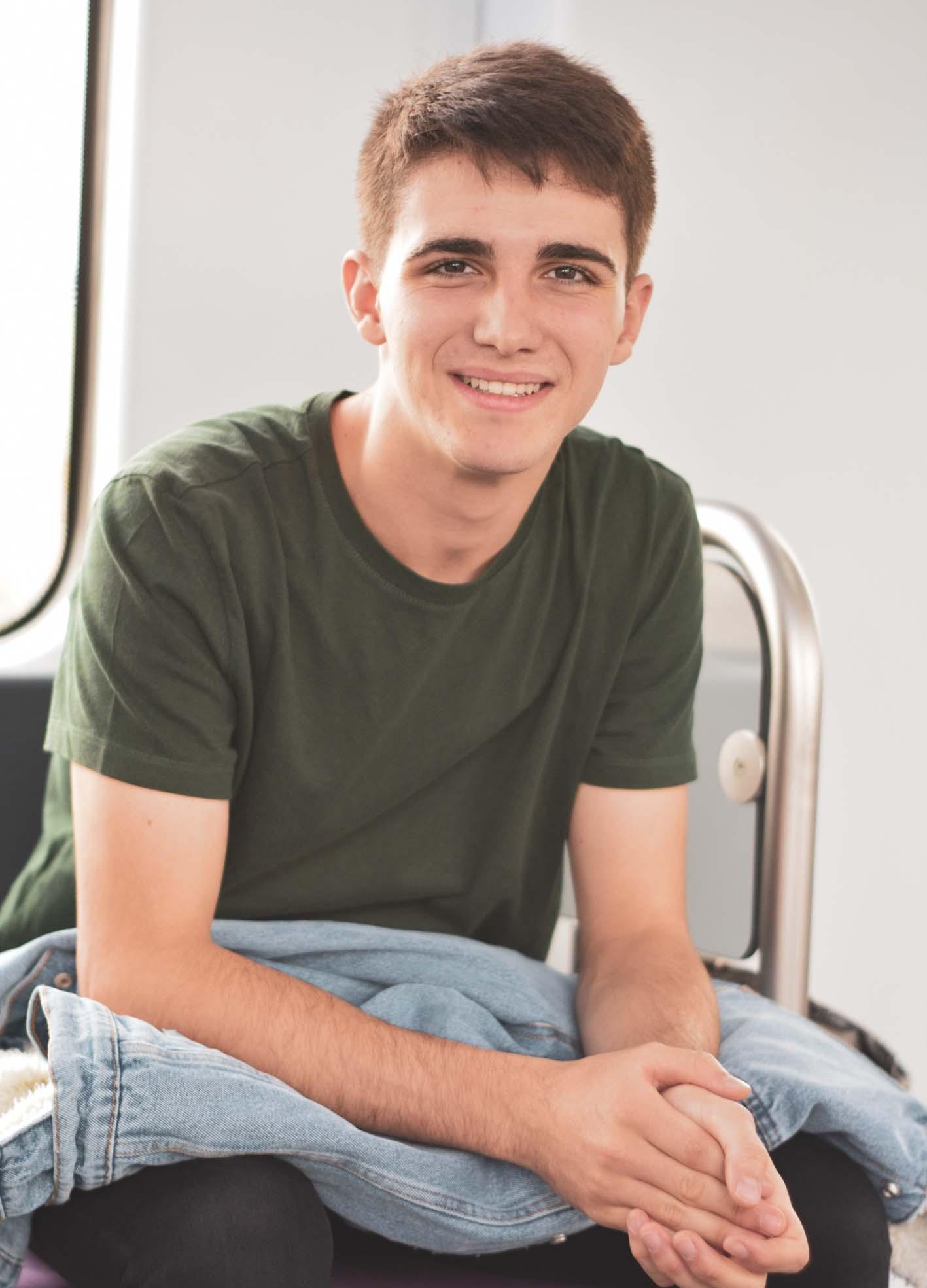 El joven cabanillero Carlos Cercos