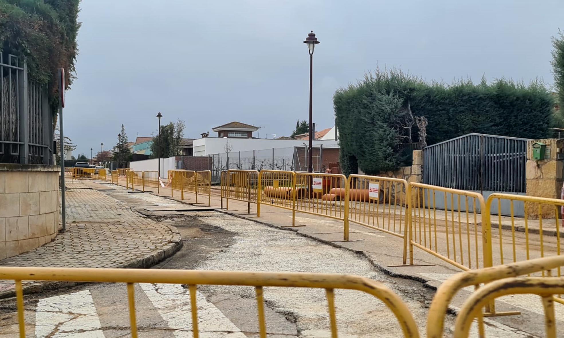 Obras colector calle Corzo